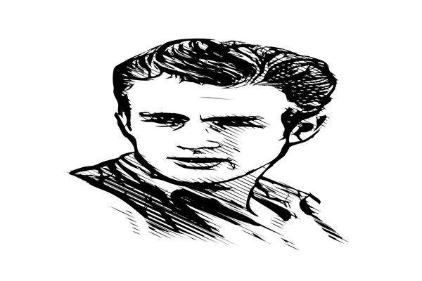 james dean vector illustration