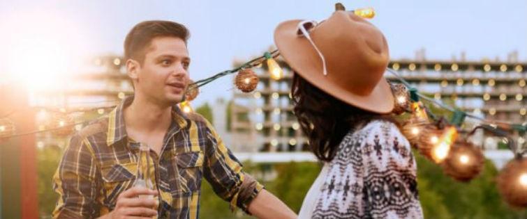 shy guys talks to woman